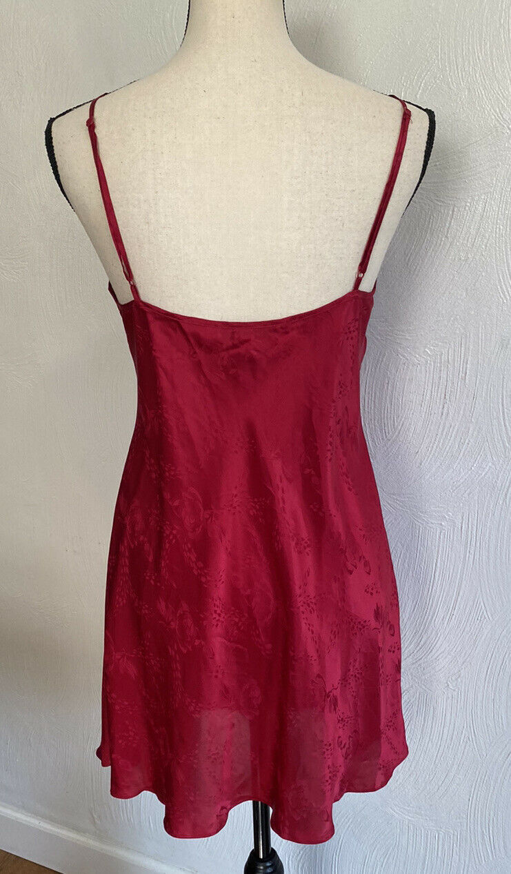 August Silk Women's Sexy Red Floral Chemise Night… - image 8