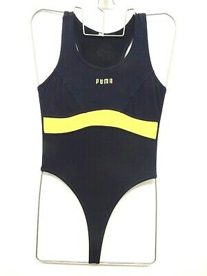 Nike Dri-Fit Thong Leotard Fitness Dance Blue Vintage 90s Stock