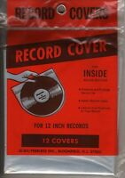 Vintage Le-bo Record Covers For 12 Inside Round Bottom, 12 Ct, Brand Sealed