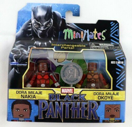 Marvel MiniMates Black Panther Dora Milaje Nakia /& Dora Milaje Okoye TRU Exclu