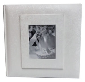 White Wedding Album 200 Photo 4x6 size (Set of 2 Albums)