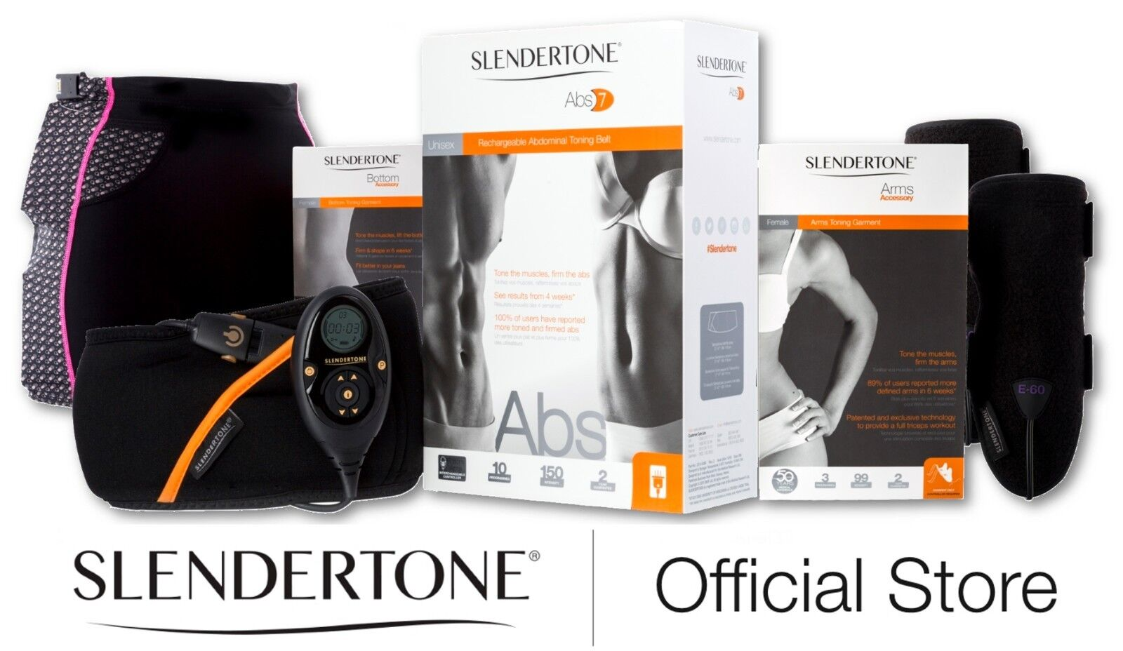 SLENDERTONE ULTIMATE FEMALE BUNDLE - Abs, Arms and Bottom products,