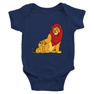 Lion-King-Simba-Mufasa-Family-Infant-Baby-Rib-Bodysuit-Jumpsuit-Romper-Newborn