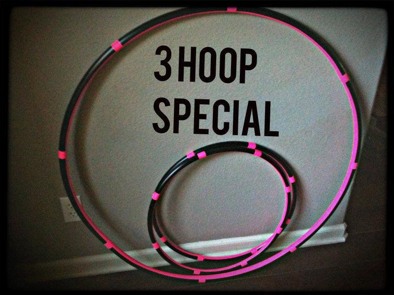 15% OFF 3 HULA HOOPS Beste seller 1 Collapsible Adult Hoop & 2 Mini Arm Hoops