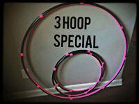 15% Off 3 Hula Hoops Best Seller 1 Collapsible Adult Hoop & 2 Mini Arm Hoops