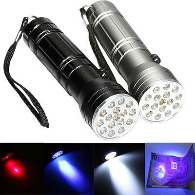 3in1 15 LED+UV+LASER Ultra Super Caution Bright Flashlight Torch Light W/Battery