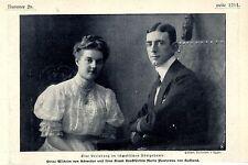 Prinz Wilhelm v.Schweden & seine Braut Großfürstin Maria Pawlowa v.Russland 1907
