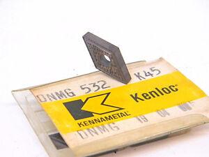 NEW-SURPLUS-4PCS-KENNAMETAL-DNMG-532-GRADE-K45-CARBIDE-INSERTS