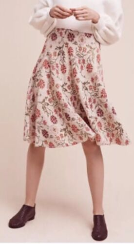NWT ANTHROPOLOGIE $188 Cecilia Prado Meadowlark Floral Sweater Skirt  S Details about  /193