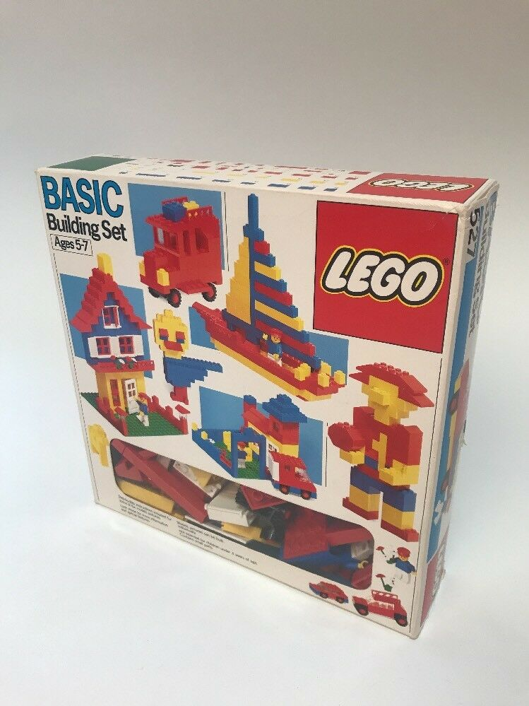 Vintage 1987 Lego BASIC Building set 527 Complete Instructions Manual Box