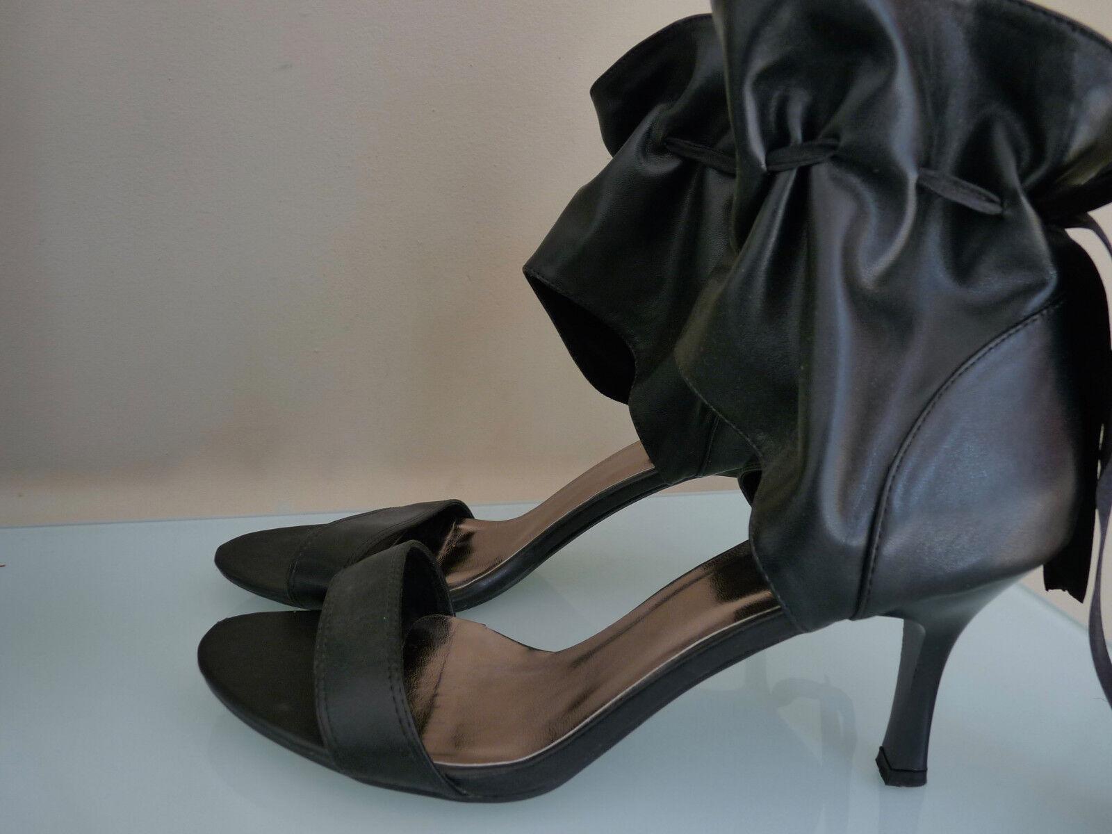 Leder chaussures aus Italien noir