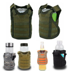 Military-Tactical-Mini-Vest-Soda-Beer-Bottle-Molle-Vest-Layer-Holder-Carrier-Bag
