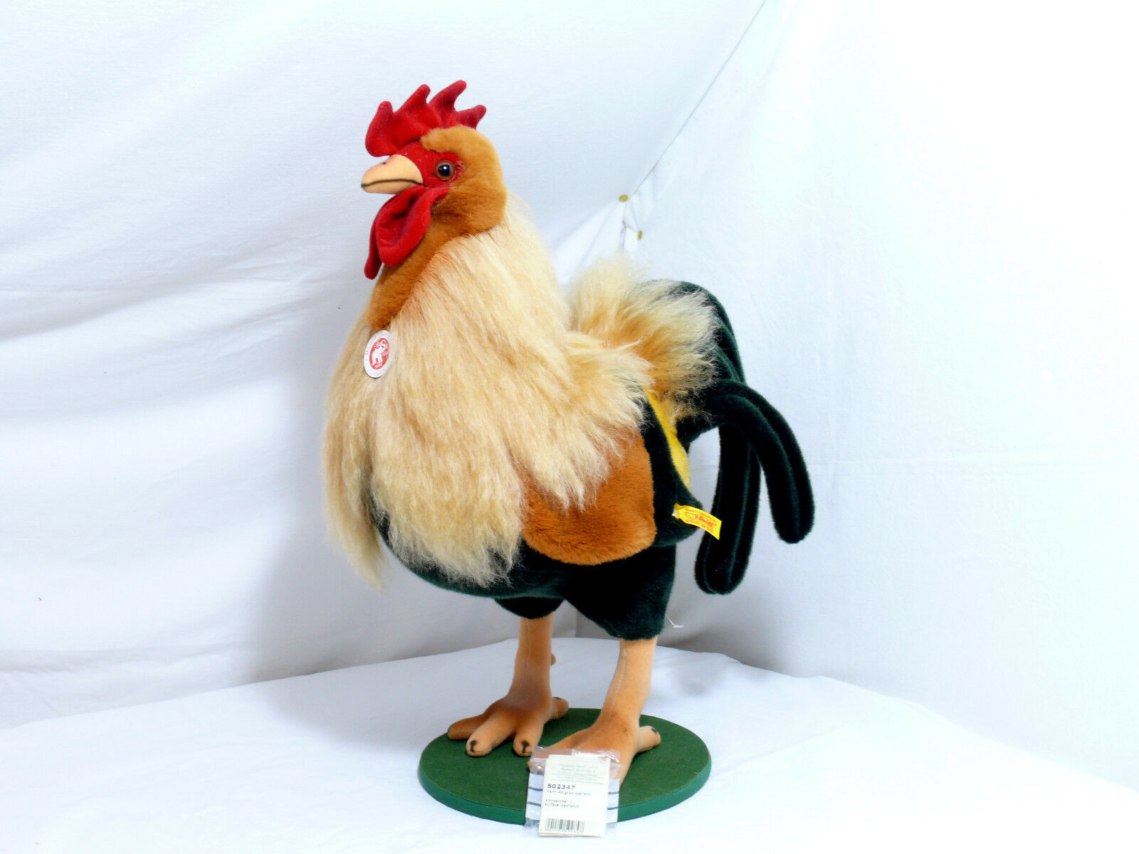 Steiff 502347 Bigger Rooster 40cm Green Standing Top Mint
