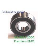 (qty. 6) Premium Emq Snowmobile Ball Bearing 6205-2rs Two Side Seals Abec3/c3