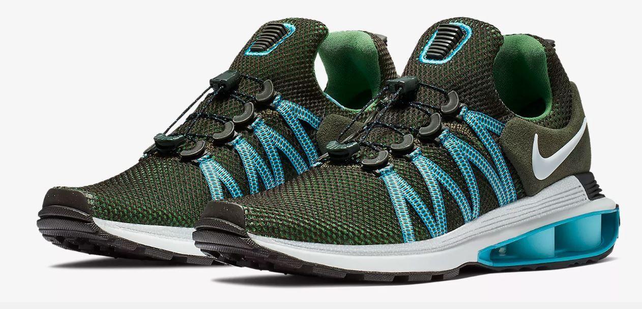 NIB NEW Men's Nike Shox Gravity AR1999 300 Shoes Sequoia Fury Reax