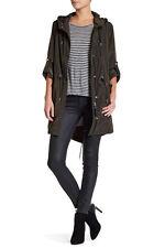 NWT Mackage Long Anorak Jacket Size S ARMY