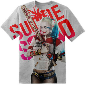 c51e2a6e0cb Mens Harley Quinn Suicide Squad Baseball Bat Pose T Shirt All Over ...