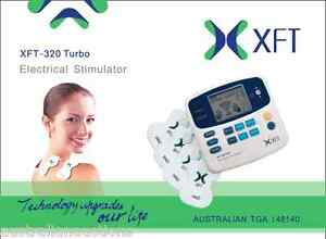 XFT-TENS-MACHINE-DIGITAL-MASSAGE-NEW-MODEL-TURBO-8-PADS-12m-WRNTY