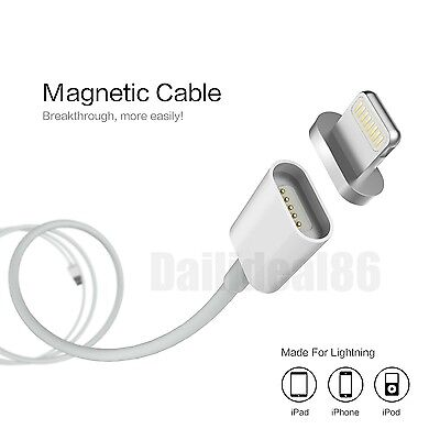 Magnetic Charging Cable Adapter Charger Data Sync For iPhone 5 5S 6 6S Plus iPad
