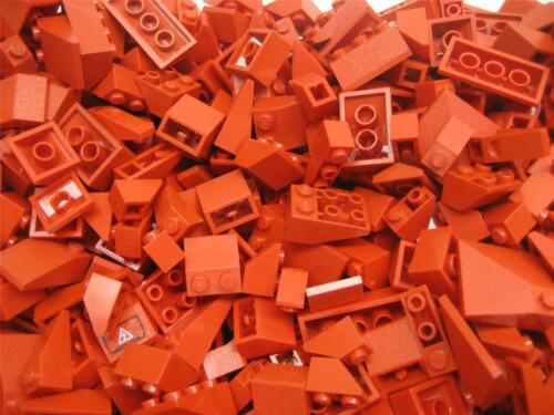 100 LEGO PIECES RED Roof Incline Slopes Bricks bulk lot wedge house city town