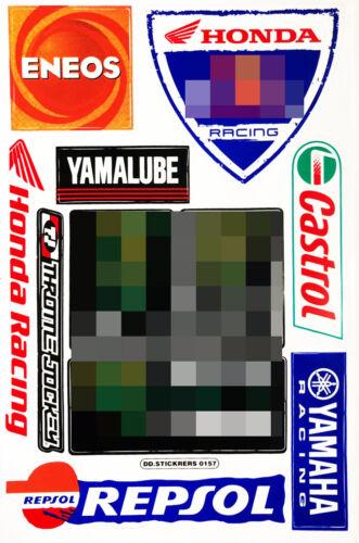 Honda Wings HRC Sheet Gas Tank Emblem Motorcycle MTB Decal logo vinyl sticker