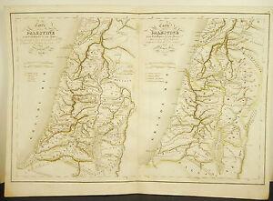 La-Palestine-536-BC-V-th-carte-ancienne-1838-Ancient-map-45cm