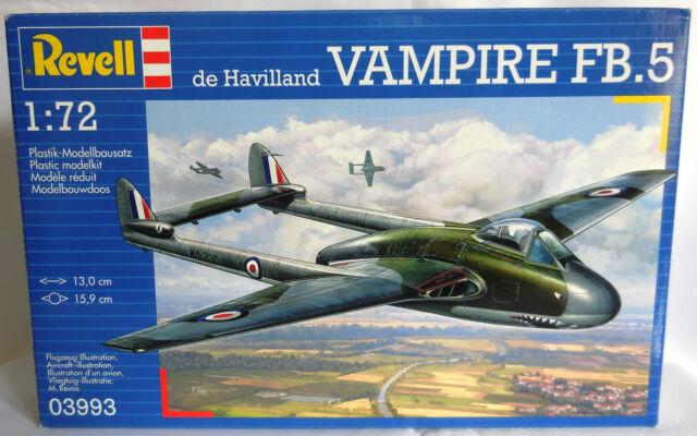 1:72 REVELL - DE HAVILLAND VAMPIRE FB.5 - REF. 03993 -  NUOVO SIGILLATO