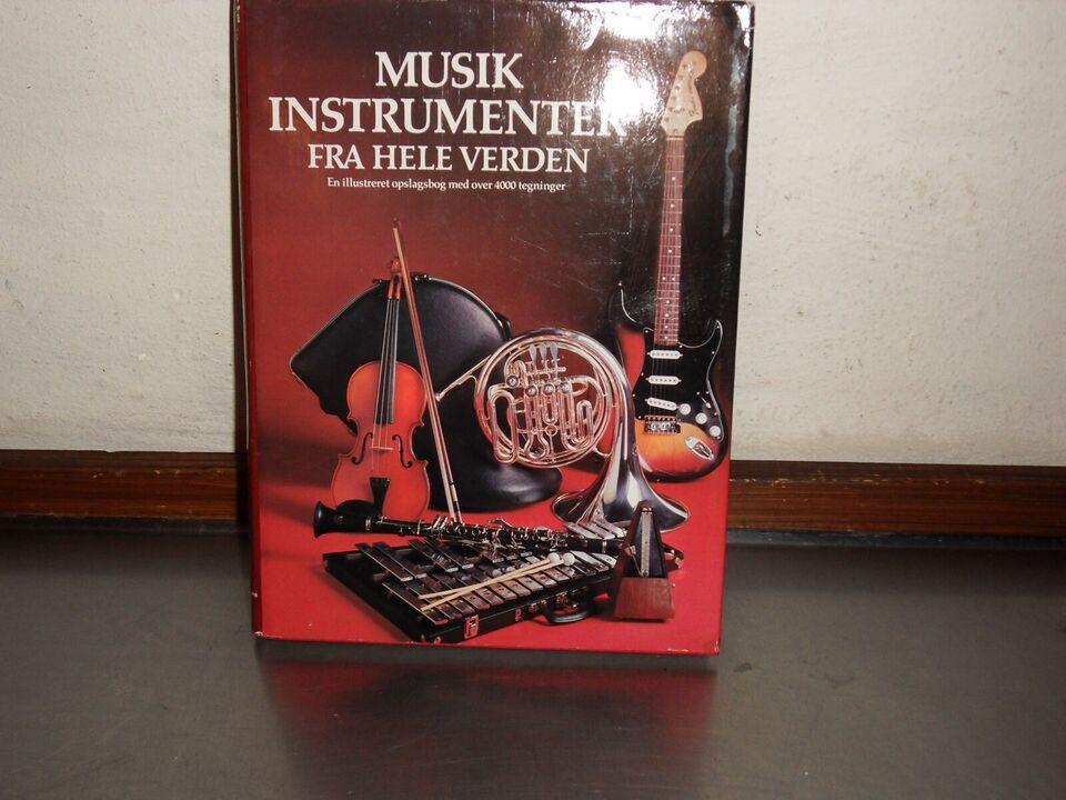 """Bog om """"Musikinstrumenter fra hele verden"""" 300 sider"""