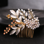 Luxury-Rhinestone-Crystal-Pearl-Flower-Tiara-Crown-Bridal-Headband-Hair-Band thumbnail 9