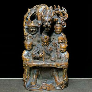 Japanese Netsuke Old Boxwood Three Pigs /& Teeterboard Collectible Vintage Statue