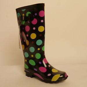 separation shoes e2890 0ec2b Details zu Damen Gummistiefel Gepunktet Design Gummistiefel Größe 36 Bunt  Neu