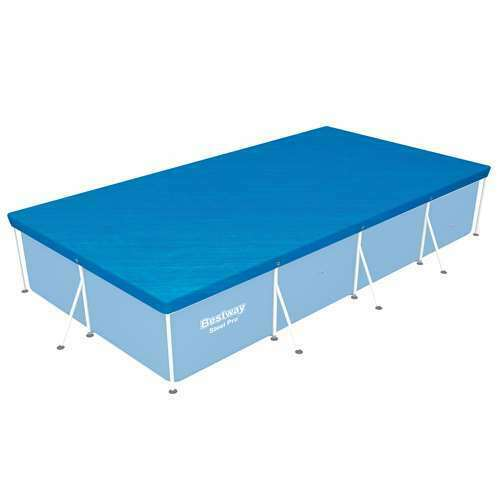 Bestway 118 x 79 Above Ground Swimming Pool Tarp Cover for Steel Pro Pool