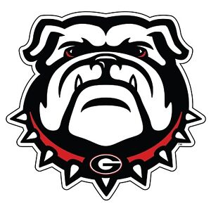 UGA UNIVERSITY OF GEORGIA Large Old Standing Bulldog DECAL