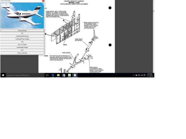 Cessna 414 Service Maintenance Manual Set N Engine 414a D778-34-13 W A/ds