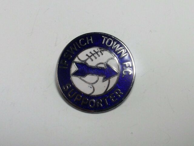 IPSWICH TOWN FC - VINTAGE ENAMEL 'SUPPORTER' BADGE - REEVES.