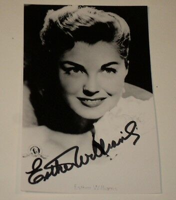 "Cards & Papers 3 3/4 X 5 3/4"" Authentic Autographed Photo Diversified In Packaging Esther Williams"