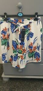 Ladies-F-amp-F-Loose-Floral-Shorts-Size-10