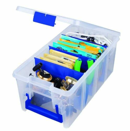 New Tackle Box Flambeau Super 1//2 Satchel Boxes Clear 15X8x6.25-Inch Fishing Gea