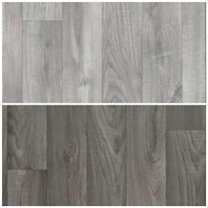 grey wood plank vinyl flooring slip resistant lino 2m