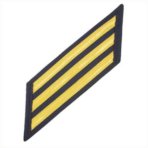 Set of 3 Gold Lace on Blue U S Coast Guard CPO Hash Marks