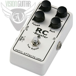 new xotic effects rc booster pedal ultra clean boost active eq ebay. Black Bedroom Furniture Sets. Home Design Ideas