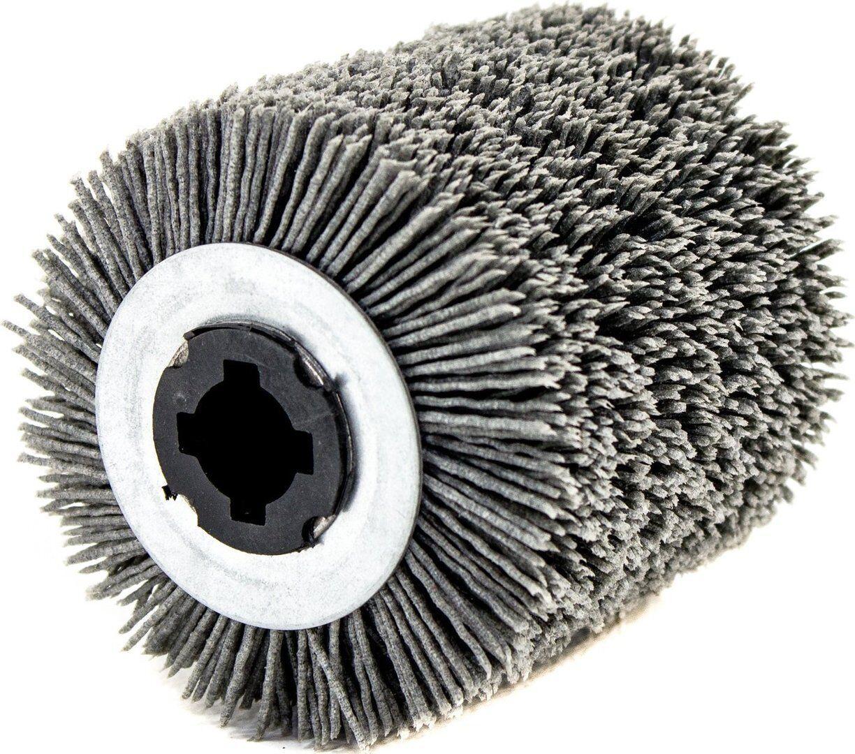 Rullo in nylon abrasivo grana 46 per rusticatrice-spazzolatrice  Ø100x70 mm.