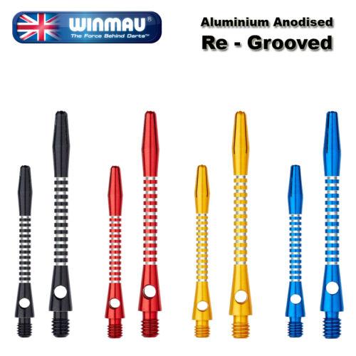 3 WINMAU Aluminium Shafts und 50 Shaft Rings für festen Halt auf Wunsch dazu