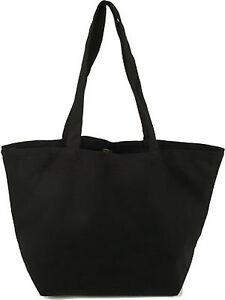ECOBAGS-Black-Organic-Cotton-Canvas-Tote-Reusable-Shopping-Tote-Bag