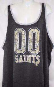 NEW Womens NFL Apparel New Orleans Saints 00 Charcoal Tank Top ... 062c0c9eb2