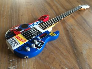 Details about Mini Bass Guitar Red Hot Chili Peppers Collectible Flea  Psycho Modulus Replica