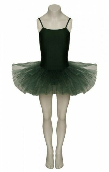 Forest Green Ballet Dance Fancy Dress Costume Standard Tutu Halloween Outfit
