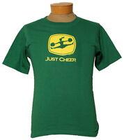 Ladies just Cheer Cheerleading John Deere Style Logo Short Sleeve Shirt