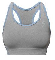 Bg Sports Bra - Charcoal/blue - Ladies Sports Exercise Fitness & Gym Bad Girl