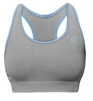 Bg Sports Bra - Charcoal/blue - Ladies Sports Exercise Fitness & Gym Bad Girl